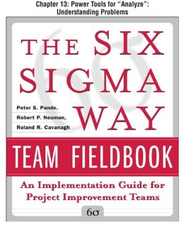 The Six Sigma Way Team Fieldbook, Chapter 13 - Power Tools for !ÿTitle/