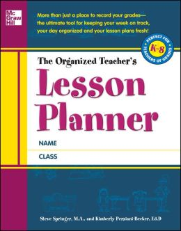 The Organized Teacher's Lesson Planner