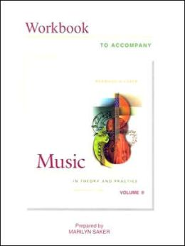 Workbook Music in Theory and Practice Vol 2 Plus Finale Software