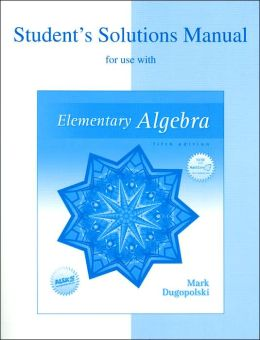 Elementary Algebra: Student's Solutions Manual