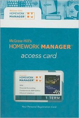 Homework Manager Passcode Card to accompany Financial Accounting Fundamentals