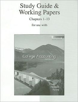College Accounting (Ch 1-12)5th (2001, Hardcover) With study guide. No CD