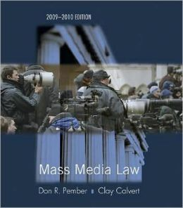 Mass Media Law 2009/2010 Edition