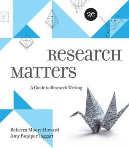 Research Matters: A Guide to Research Writing
