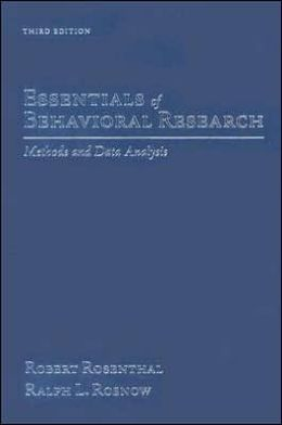 Essentials of Behavioral Research: Methods and Data Analysis