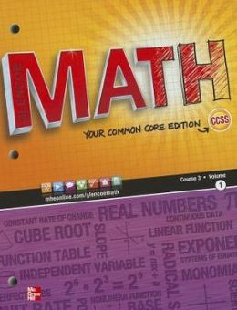 Glencoe Math Course 3 Student Edition, Volume 1