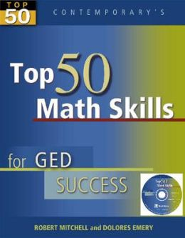Top 50 Math Skills for GED Success - Student Text with CD-ROM