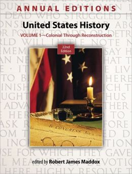 United States History: Colonial Through Reconstruction