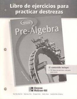 Pre-Algebra: Libro de ejercicios para practicar destrezas