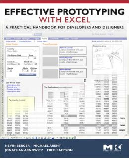 Effective Prototyping with Excel: A practical handbook for developers and designers