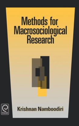 Methods For Macrosociological Research