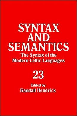 Syntax And Semantics, Volume 23 Tr Ppr