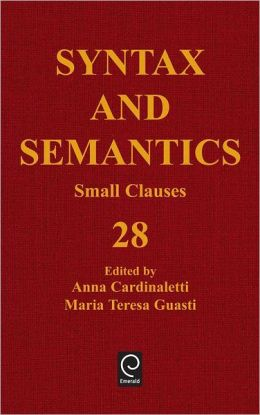 Syntax And Semantics, Volume 28