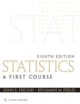 Statistics: First Course