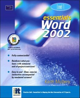 Essentials: Word 2002 Level 1