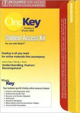 OneKey WebCT, Student Access Kit, Essentials of Human Development for Understanding Human Development