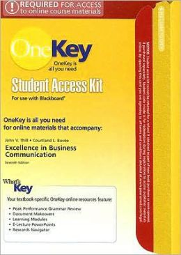 Excellence in Business Communication Student Access Kit for Use with Blackboard