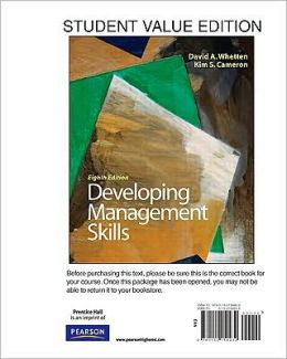Developing Management Skills, Student Value Edition