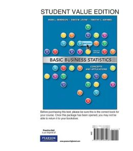 Basic Business Statistics, Student Value Edition