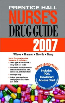 Prentice Hall Nurse's Drug Guide 2007