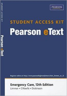 Emergency Care, Pearson eText Student Access Code Card