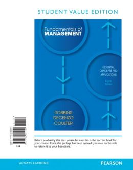 Fundamentals of Management, Student Value Edition