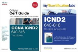 Cisco Icnd2 Official Cert Guide with Myitcertificationlabs Bundle (640-816)