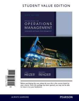 Principles of Operations Management, Student Value Edition