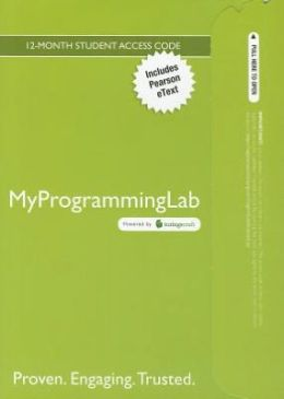 MyProgrammingLab with Pearson eText -- Access Card -- for Introduction to Java Programming, Brief Version