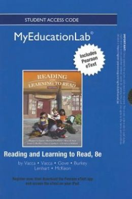 NEW MyEducationLab with Pearson eText -- Standalone Access Card -- for Reading and Learning to Read