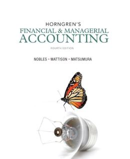 Horngren's Financial & Managerial Accounting Plus NEW MyAccountingLab with Pearson eText -- Access Card Package