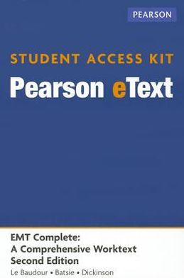 EMT Complete, Pearson eText -- Access Card