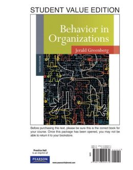 Behavior in Organizations, Student Value Edition