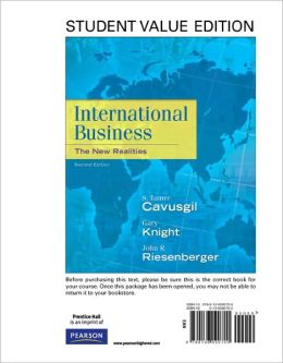 International Business: The New Realities, Student Value Edition