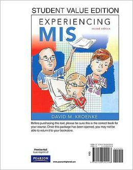 Experiencing MIS, Student Value Edition