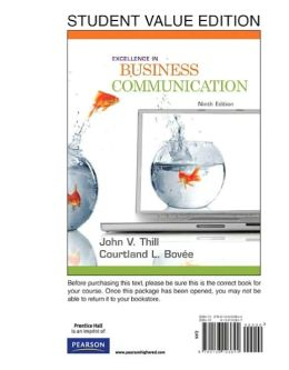 Excellence in Business Communication, Student Value Edition