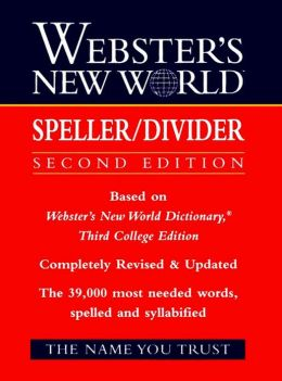 Webster's New World Speller/Divider, 2nd Edition
