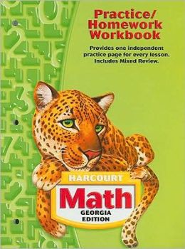 Harcourt School Publishers Math Georgia: Practice/Homework Workbook Student Edition Grade 5