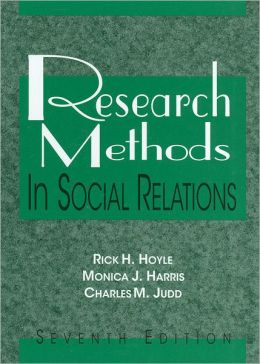 Research Methods in Social Relations