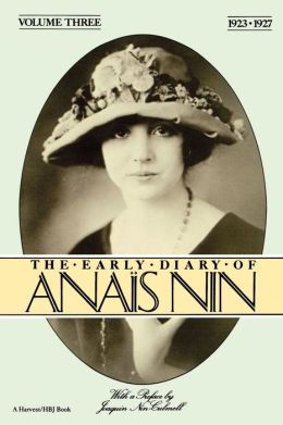 Early Diary Anais Nin Vol 3 1923-1927