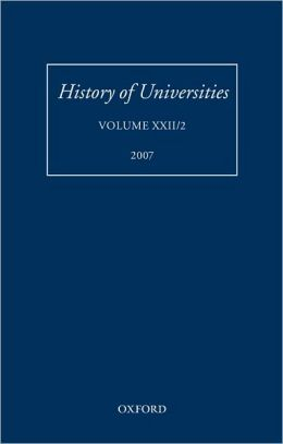 History of Universities: Volume XXII/2: Volume XXII/2