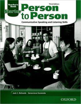 Person to Person Starter Teacher's Book