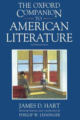 The Oxford Companion to American Literature