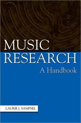 Music Research: A Handbook