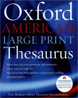 Oxford American Large Print Thesaurus