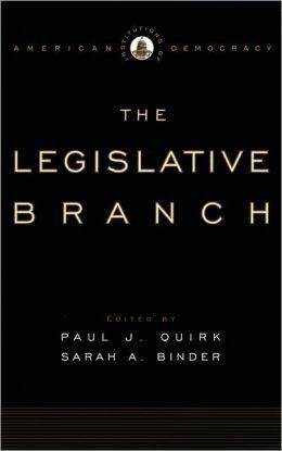 Institutions of American Democracy: The Legislative Branch