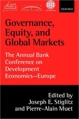 Governance, Equity, and Global Markets: The Annual Bank Conference on Development Economics - Europe