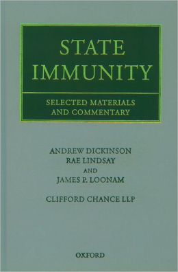 State Immunity: Selected Materials and Commentary