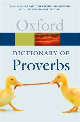 A Dictionary of Proverbs
