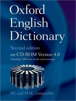 Oxford English Dictionary on CD ROM 4.0